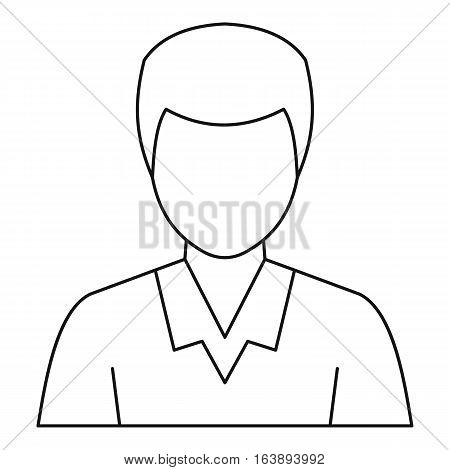 Man avatar profile icon. Outline illustration of man avatar profile vector icon for web