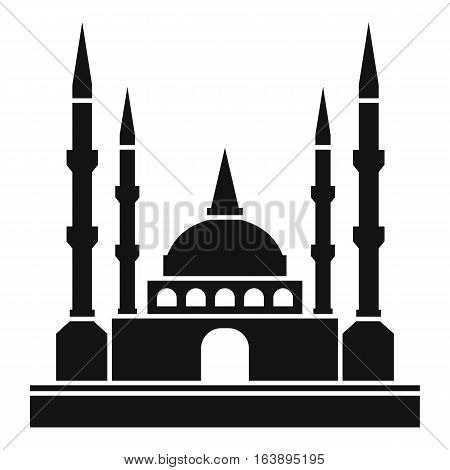 Mosque icon. Simple illustration of mosque vector icon for web