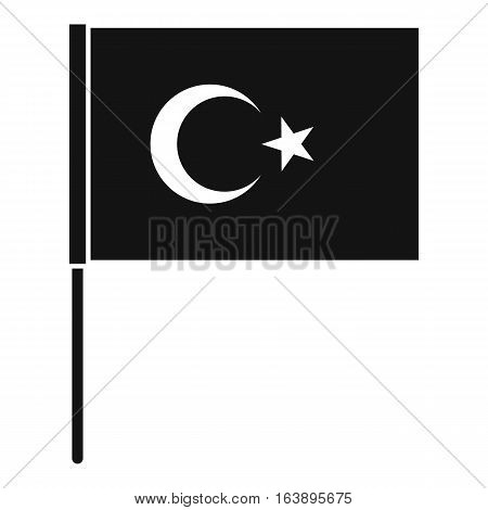Turkish flag icon. Simple illustration of Turkish flag vector icon for web