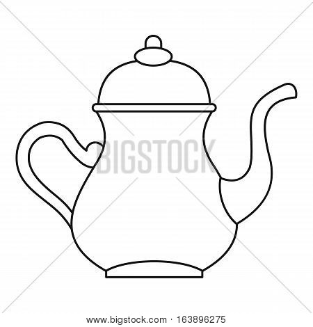 Turkish teapot icon. Outline illustration of Turkish teapot vector icon for web