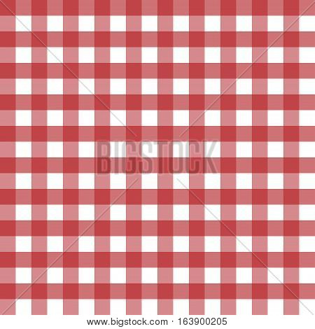 Vector red seamless patterns tablecloths. Lumberjack seamless pattern