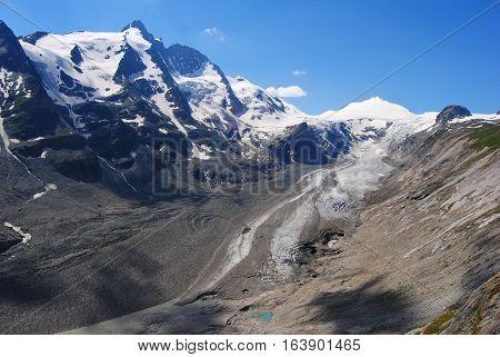 Grossglockner 3798 m Johannisberg 3453m and Hohe Riffl 3398 m peaks in Austria.