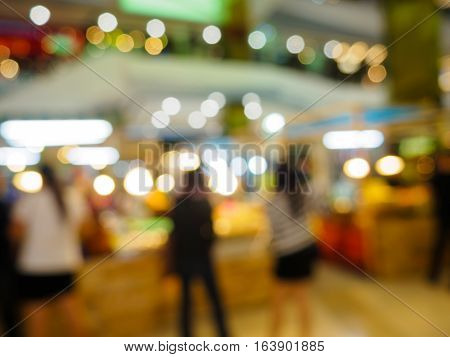 abstract Blurred background of Clothing store in big shopping mall or super market