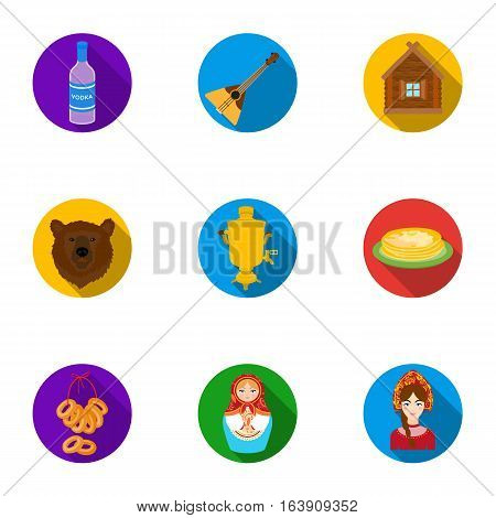 Russia country set icons in flat design. Big collection of Russia country vector symbol stock illustration