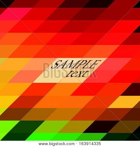 Background of beveled colored mosaic rectangles.Vector illustration