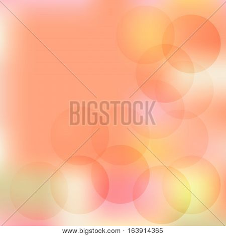 Circles on a beige background blurred.Vector illustration.