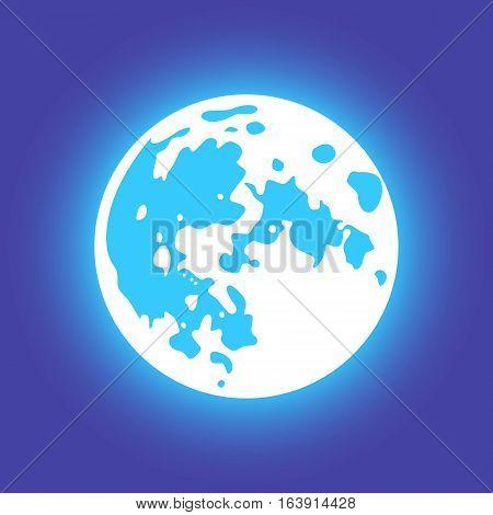 Vector moon. Flat style Vector moon. Flat style