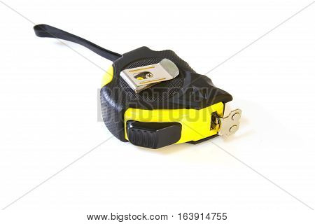 measuring tape tool isolated on white background