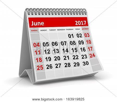 Calendar - June 2017