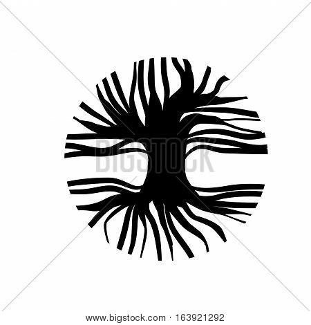 Illustration of Abstract Circle Tree Logo Design