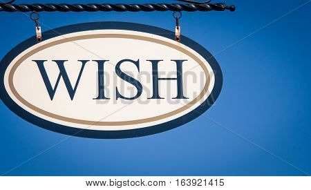 Hanging wish sign in the united states