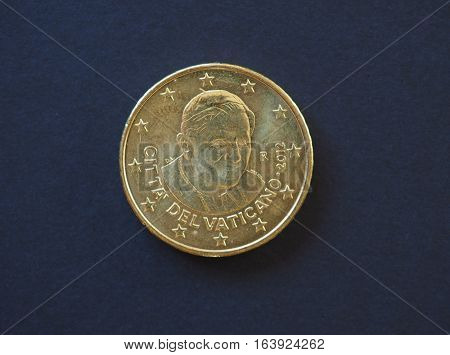 Pope Benedict Xvi 50 Cents Coin