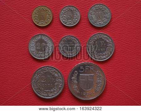 Swiss Franc Coins, Switzerland