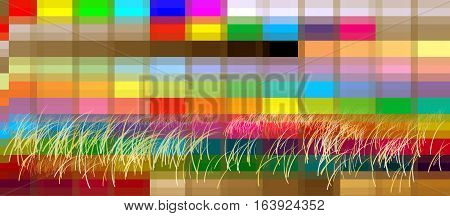 Background landscape heather graphic pixel colorful Graphic design pattern art abstract.