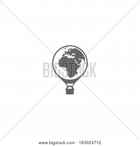 Baloon globe icon isolated on white background.