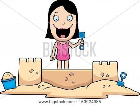 Woman Sandcastle