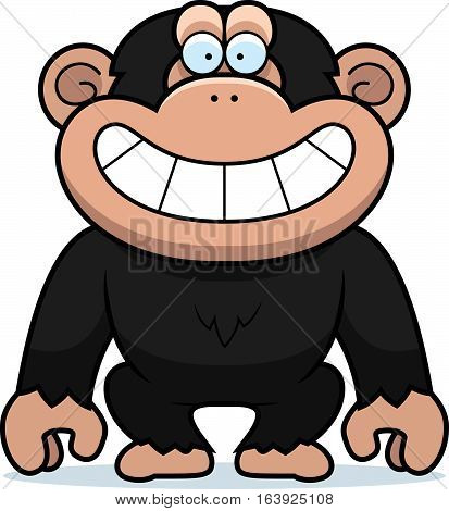 Cartoon Chimp Grin