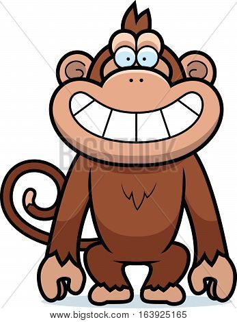 Cartoon Monkey Grin