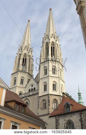Peterskirche church in the twon of Goerlitz, Deutschland