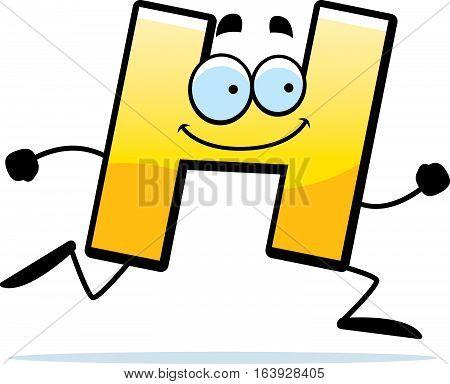 Cartoon H Running