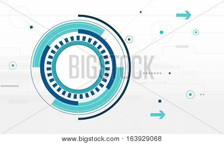 Abstract Circle digital technology background futuristic structure elements concept white background design