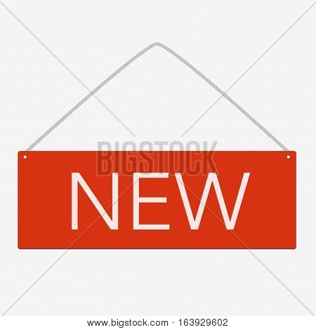 Free Red Square Sticker Isolated On White