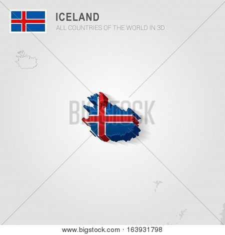 Iceland and neighboring countries. Europe administrative map.