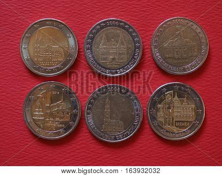 2 Euro Coins, European Union, Germany