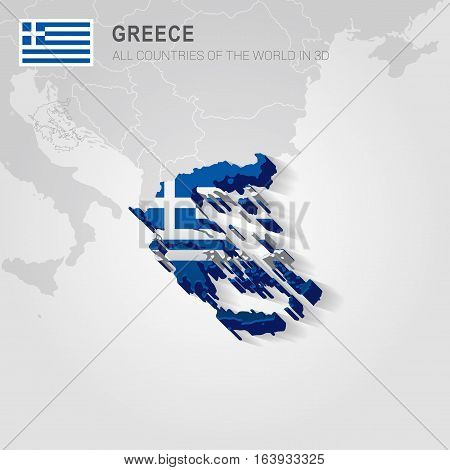 Greece and neighboring countries. Europe administrative map.
