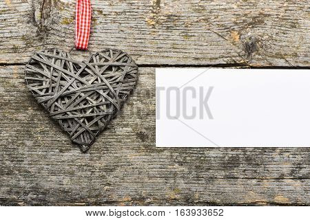 Decorative Valentine Heart With Paper