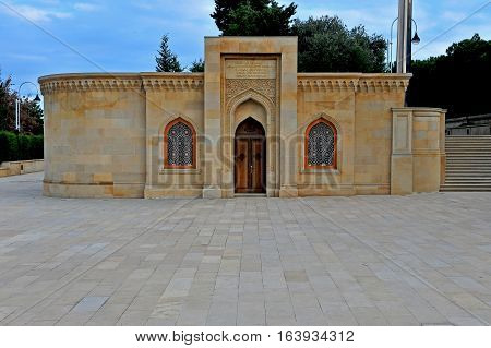 Memorial building on the Martyrs' lane Baku