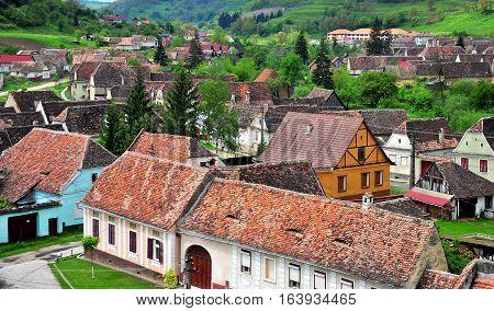 Old houses of Biertan transylvanian town Romania