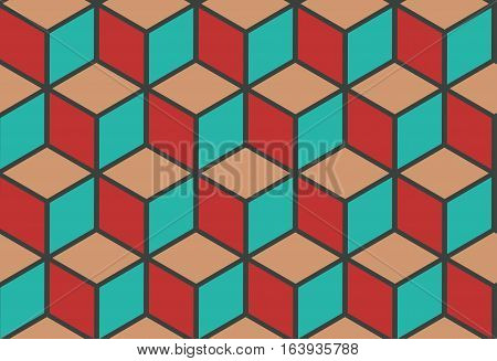 Vector stones floor tile seamless pattern. Abstract design tile wall illustration