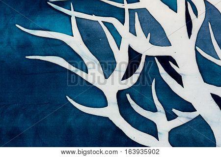 Horns Of Deer, Mystical Tree, Turquoise