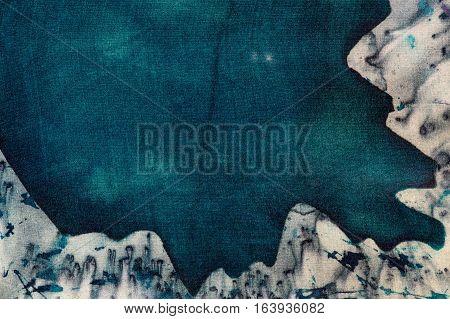 Turquoise Mystical Mountains, Hot Batik