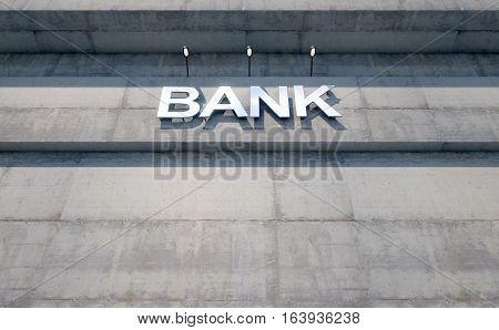 Modern Bank Building Signage