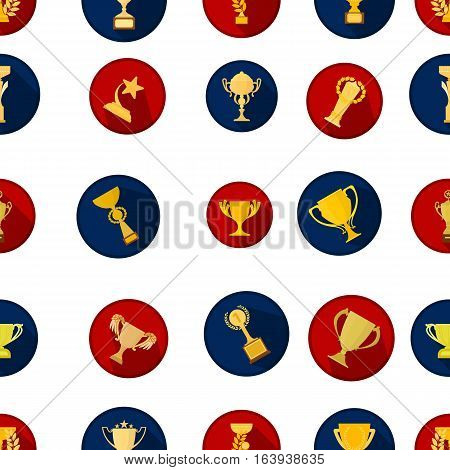 Winner cup pattern icons in cartoon style. Big collection of winner cup vector symbol.