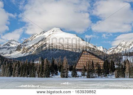 Winter in High Tatras Mountains. High Tatry. Slovakia. Vysoke Tatry