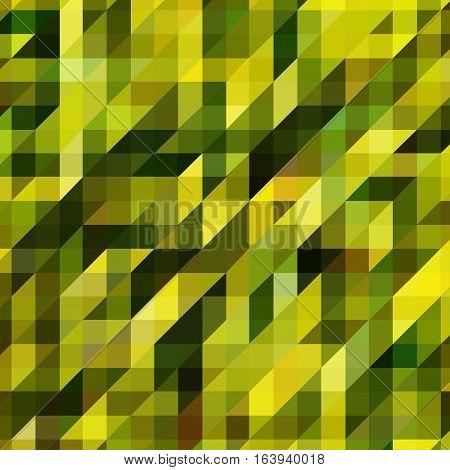 Mosaics Made Of Geometric Shapes, Green