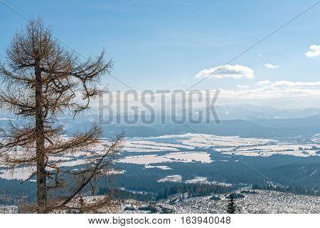 Winter in High Tatras Mountains. High Tatry. Slovakia. Vysoke Tatry. Sunny day