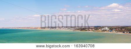 sea coast near Sevastopol on a sunny day panorama