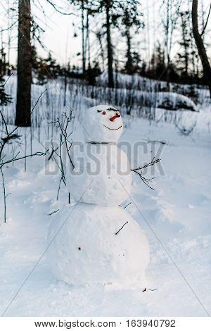 Winter in High Tatras Mountains. High Tatry. Slovakia. Snowman.