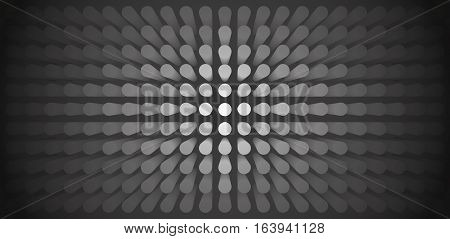 Volume abstract gray background, many pillar, cylinders, 3d vector dark wallpaper