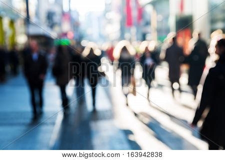 Crowd Of People On A Shopping Street
