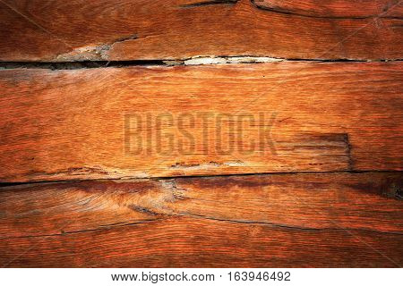 detail of oak wood vintage wall on old lodge wooden texture for your design