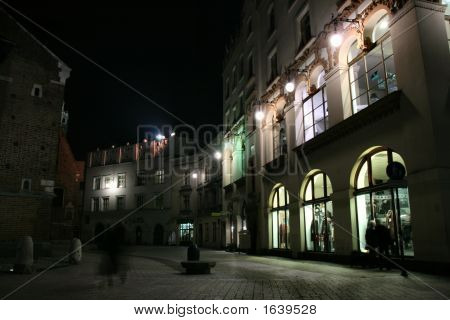 Krakow - Street Life At Night