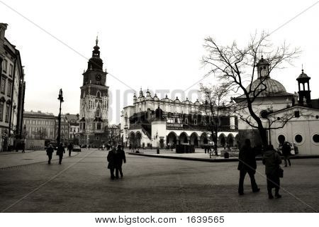 Krakow In Black And White
