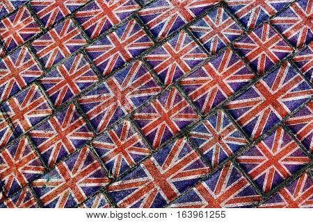 England Flag Urban Grunge Pattern