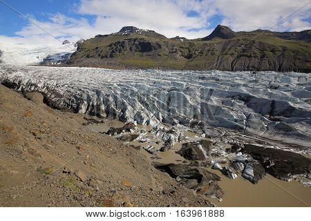 Svinafellsjokull, part of Vatnajokull Glacier in Skaftafell National Park. Iceland