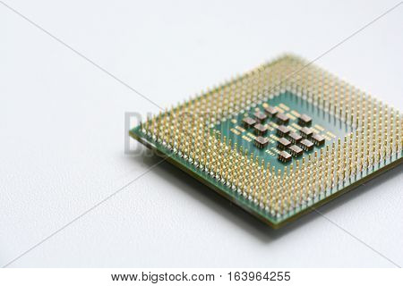 Computer CPU or processor isolated on white background